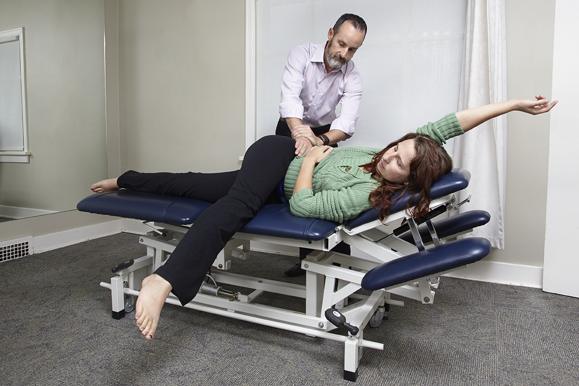 Dr.Hankins performing Active Release technique